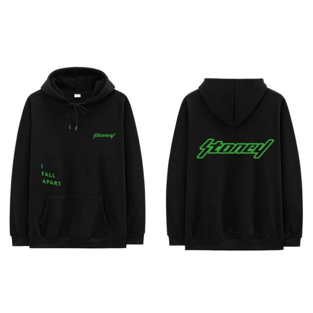 Men's sweatshirt with a cchood, hip-hop style-
