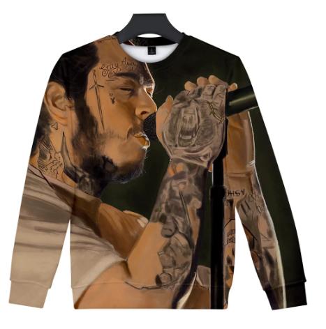 Post Malone Streetwear O-Neck Long Sweatshirt