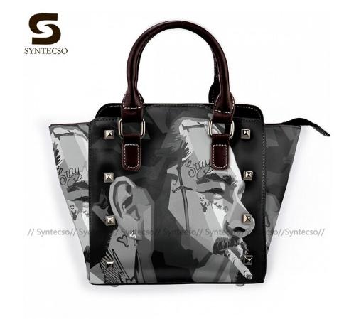 Post Malone Shoulder Bag Woman Gifts Handbag Aesthetic Leather