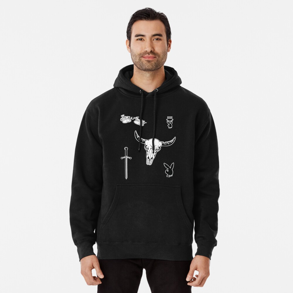Post Malone face tattoos Pullover Hoodie