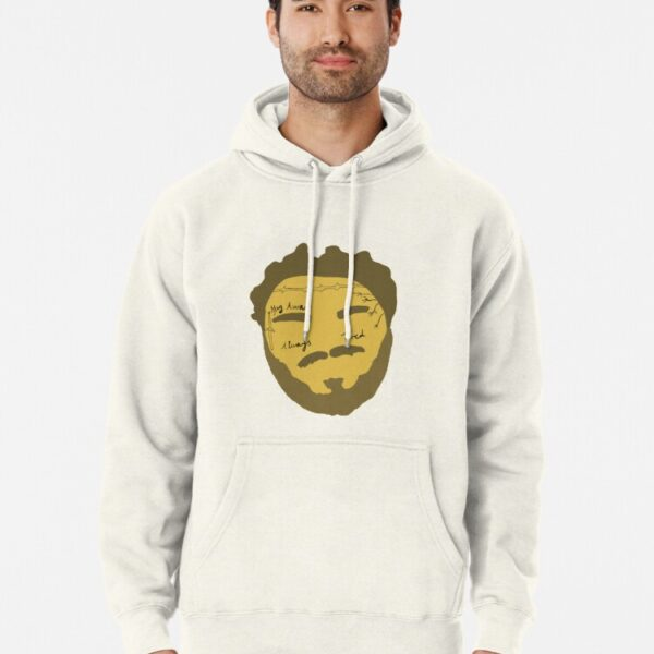 Post Malone face sticker Pullover Hoodie