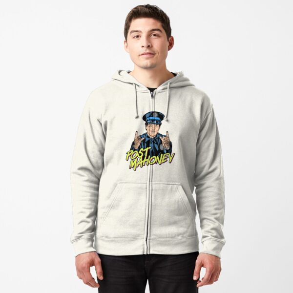 Post Mahoney T-Shirt Zipped Hoodie